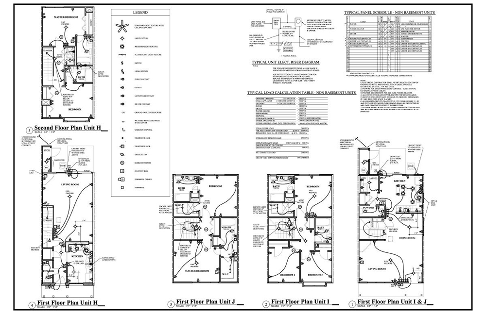 electrical site plan drawing